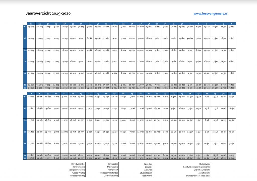 Loes van Gemert schooljaarplanning